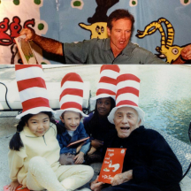 Previous celebrity readers include Robin Williams and Kirk Douglas